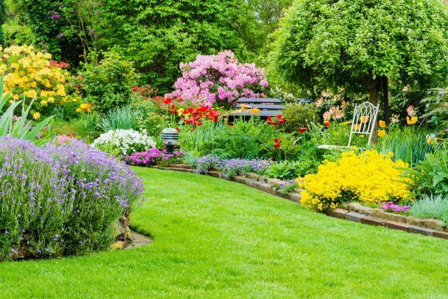 duży ogród, aranżacja dużego ogrodu, jak urządzić ogród, projekt ogrodu, kwiaty w ogrodzie, urządzanie ogrodu