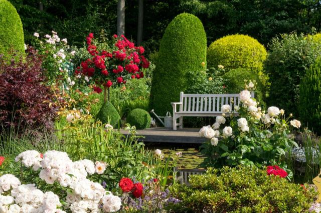 ogród, kompozycje roślinne, projekty ogrodów, aranżacja ogrodów, ogrodu przydomowe, ogrody duże, ogrody angielskie
