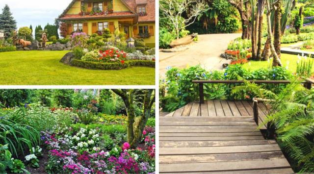 10 przykładów  na aranżację ogrodu przydomowego w stylu rustykalnym