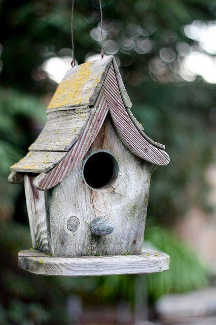 dodatki do ogrodu diy, ogród diy, domki dla ptaków