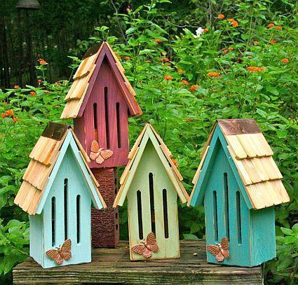 domki dla ptaków, dodatki do ogrodu diy, ogród diy
